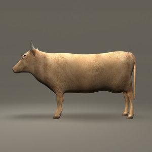 cow brown 3d model