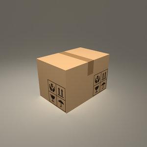 cardboard box obj free