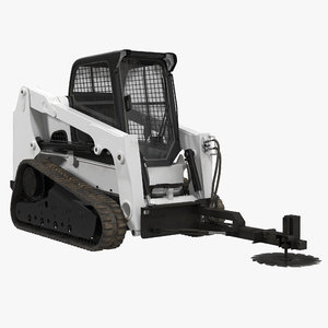 compact tracked loader brush c4d