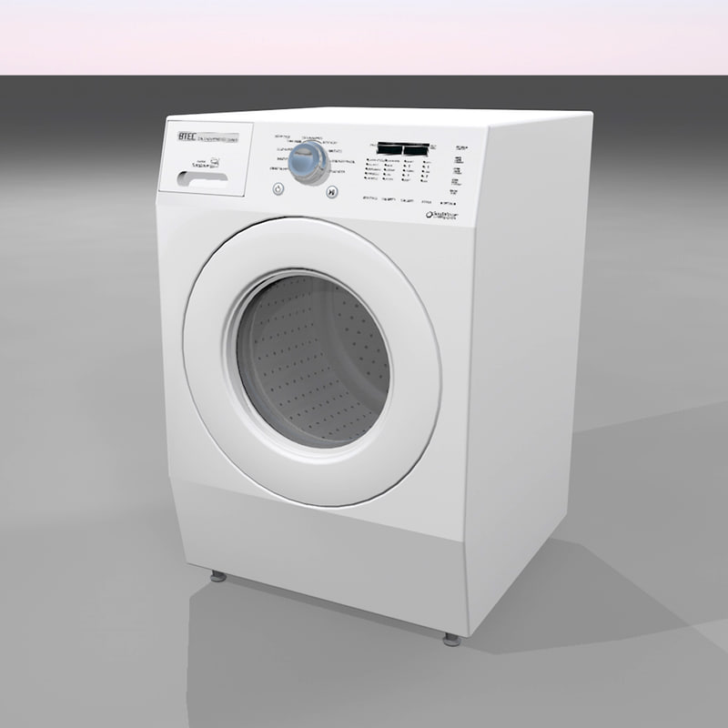 washer dryer 3d c4d