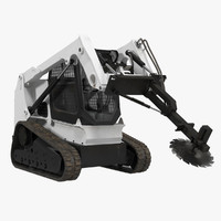 max compact tracked loader brush