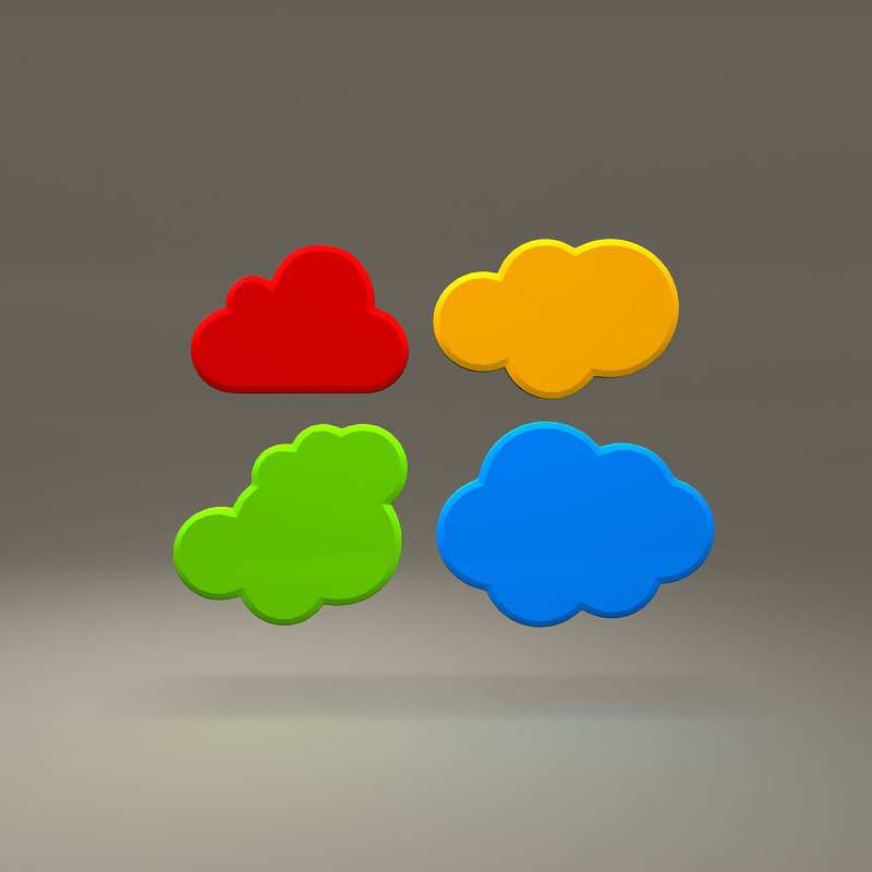 cloud storage symbols obj free