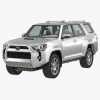 3d model toyota 4runner 2015 simple