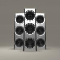 Modern Chrome Speakers
