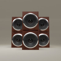 modern twin home speaker 3d model
