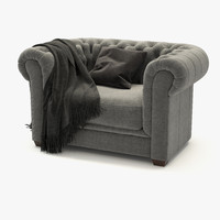 3d mayson chesterfield chair model