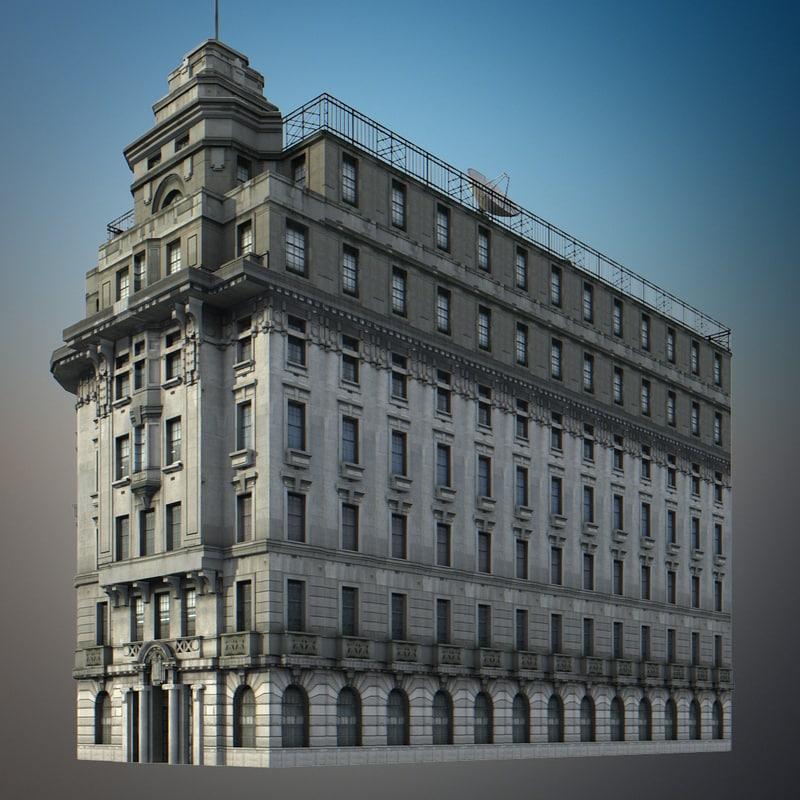 3d model china building