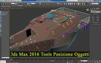 3ds Max 2016 Tools Posizione Oggetti
