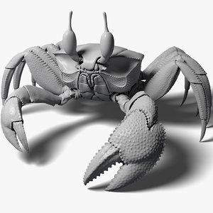 3d ghost crab model