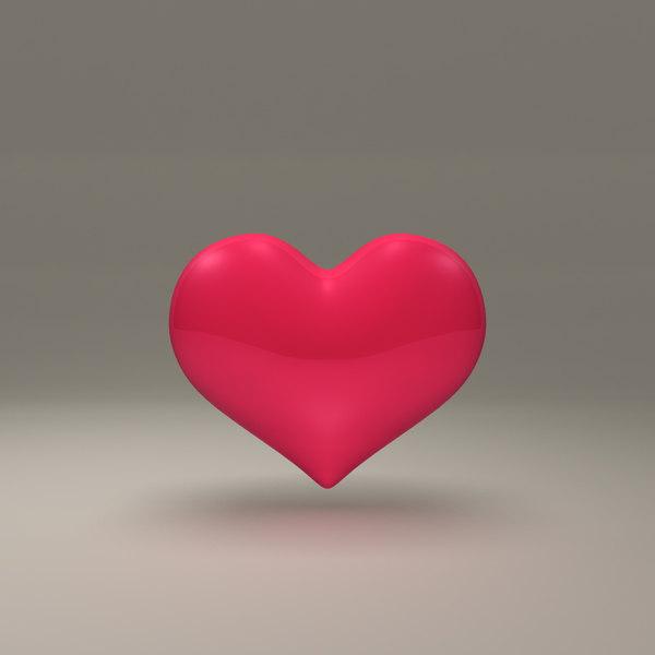 heart red obj