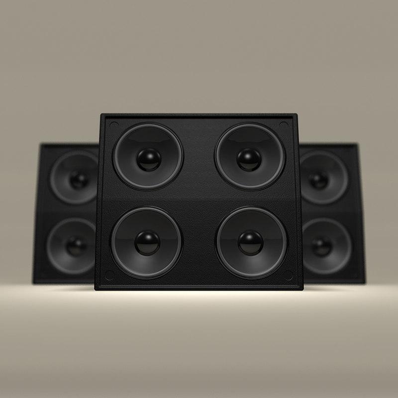 3d leather concert speaker model