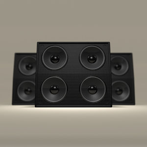 3d leather concert speaker model