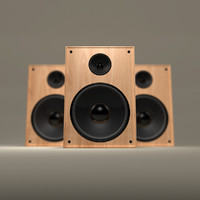 obj wooden speaker