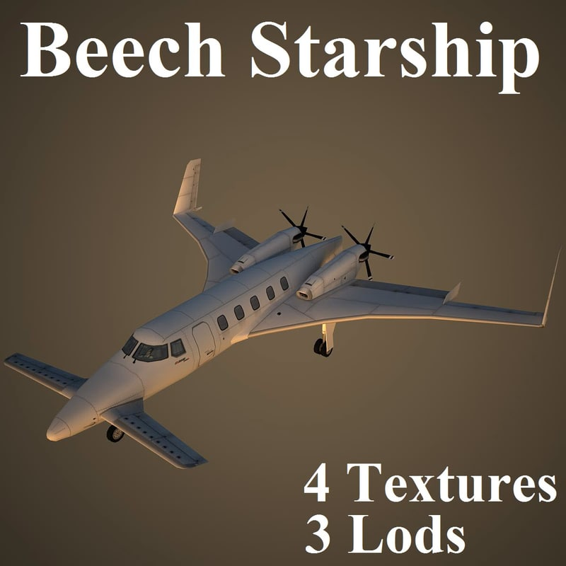 3d beechcraft starship model