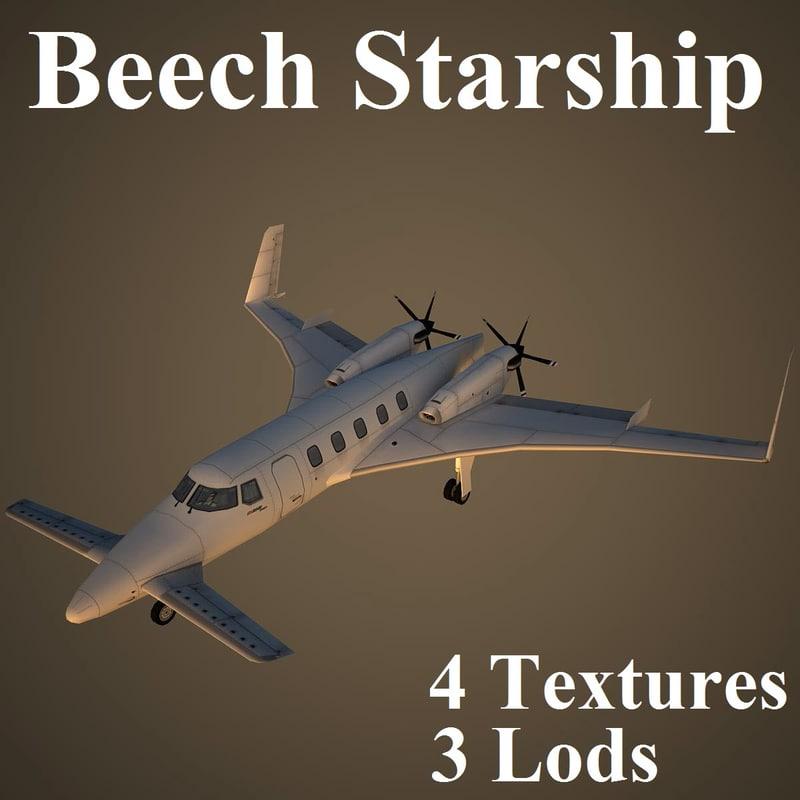 3d beechcraft starship model