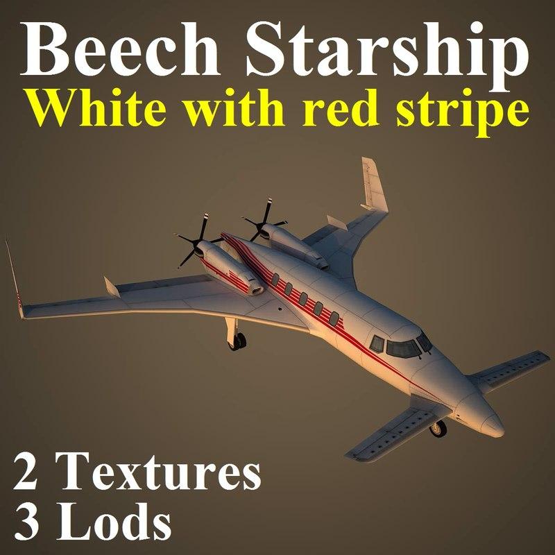 3d model of beechcraft starship wre