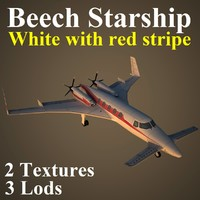 3d model of beechcraft starship wre