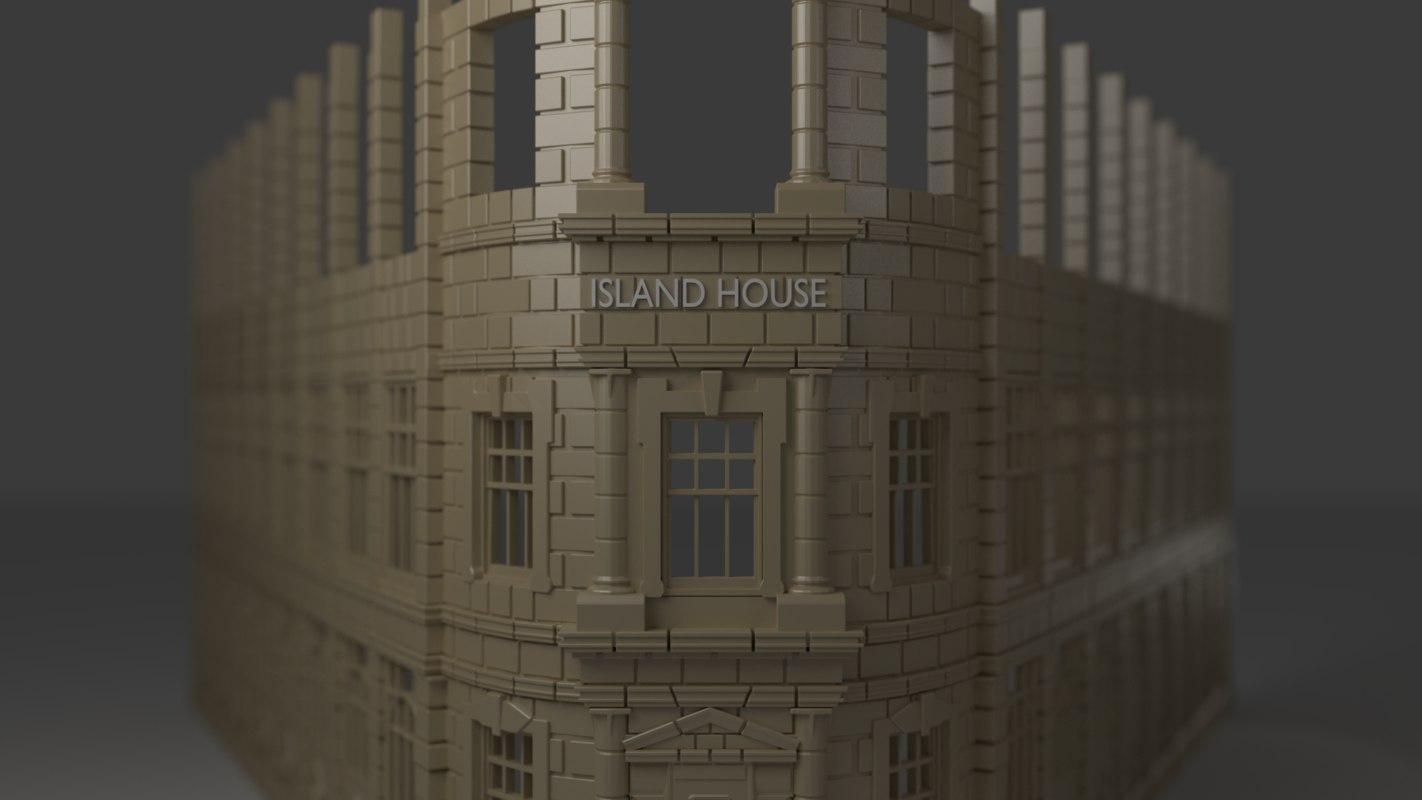 plastic building 3d fbx