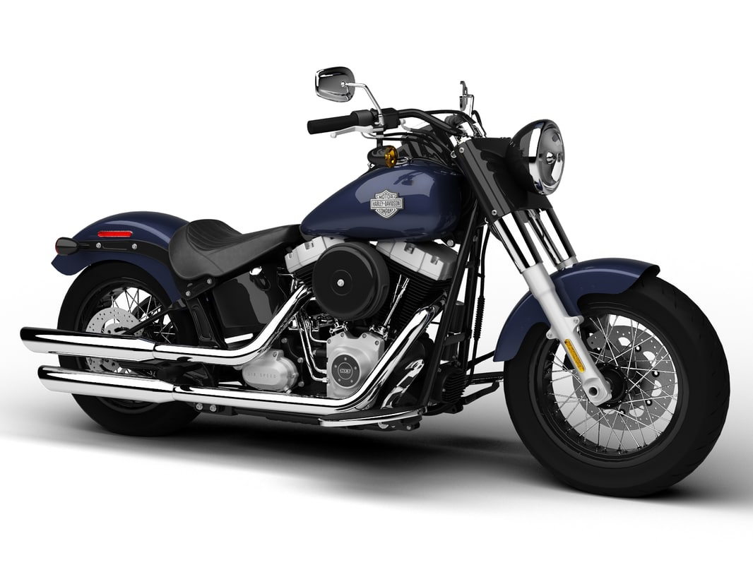 3d model harley davidson fls softail slim. Black Bedroom Furniture Sets. Home Design Ideas