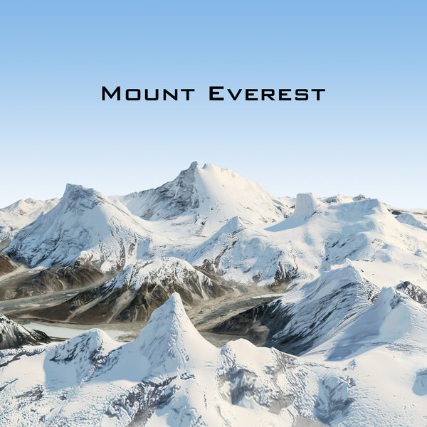 mount everest 3d max
