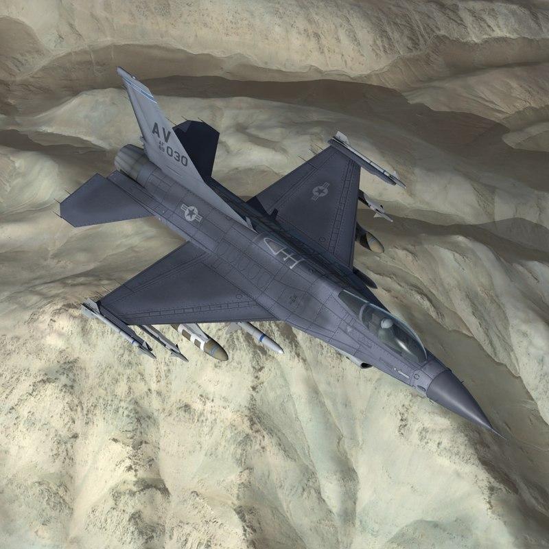 f16c falcon jet fighter 3d model