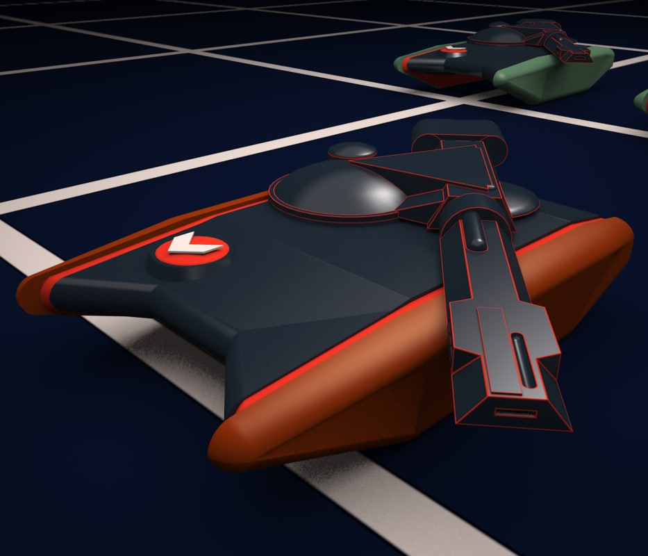 3d tanks tron 1982 model