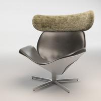 3d model almora chair b italia