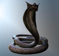 3d model snake creature