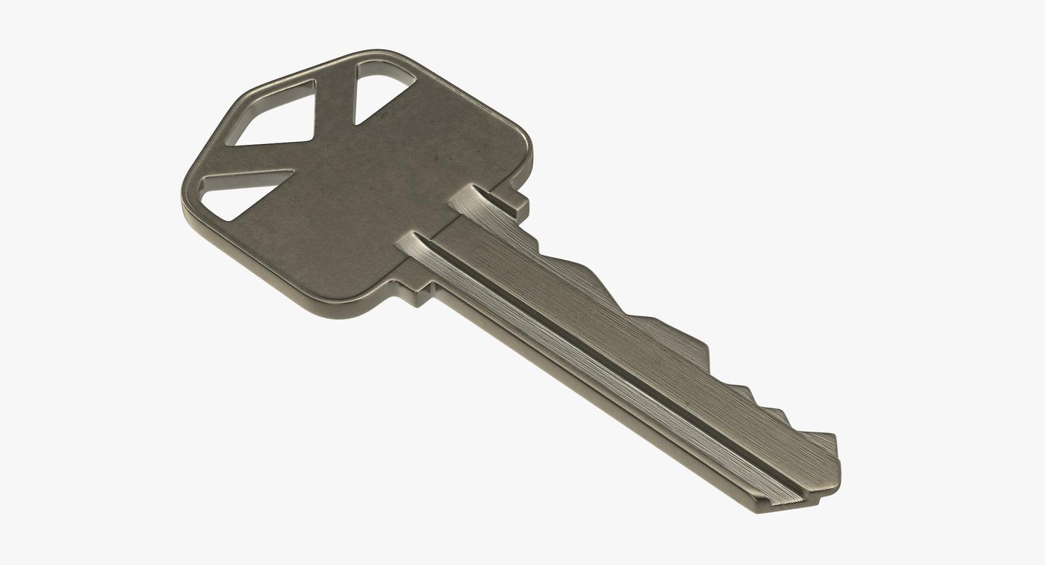 3d house key 02