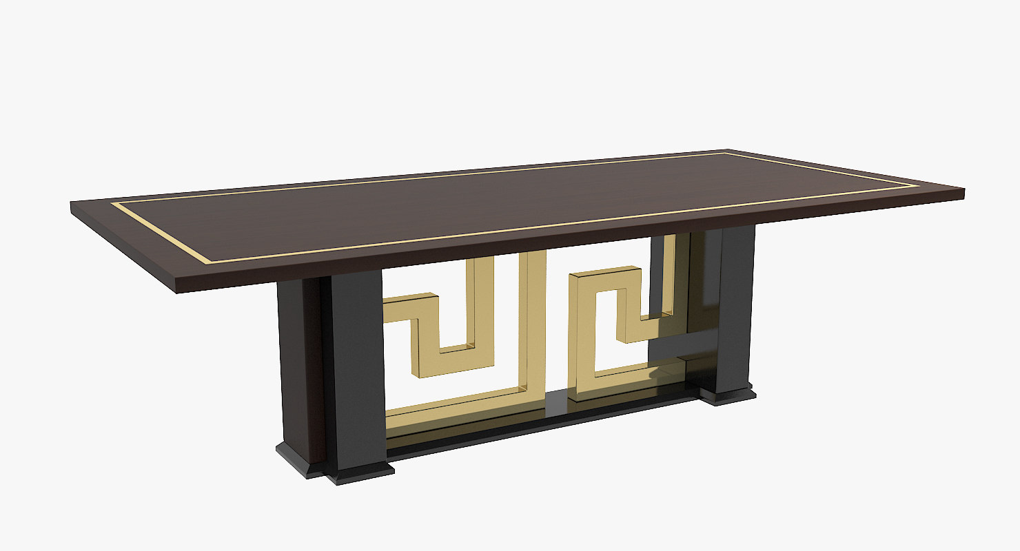 versace cartesio dining table 3d model
