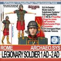 3d ancient roman legionary soldier model