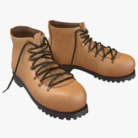 hiking boots 3d 3ds