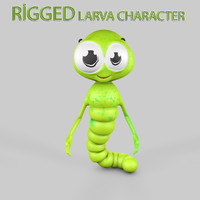 3ds max rigged larva