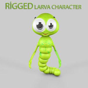 3ds max rigged larva