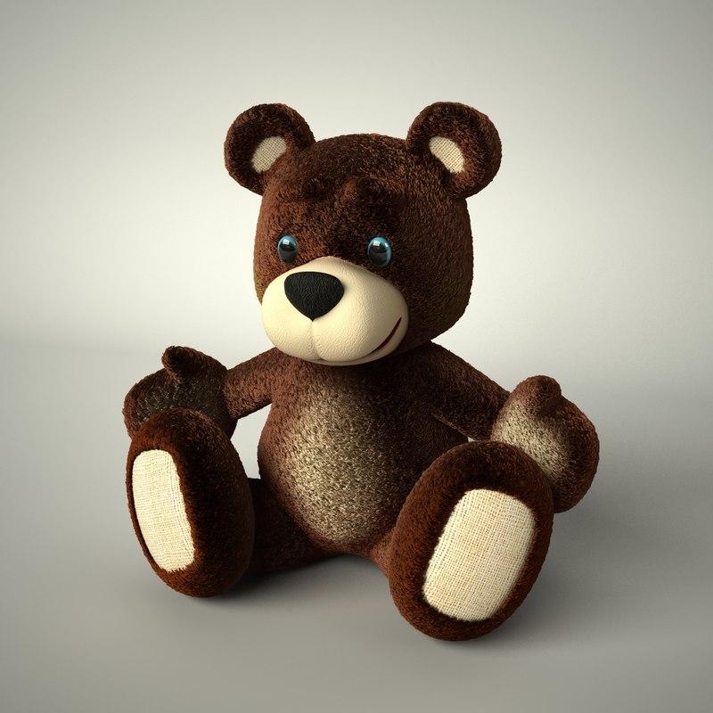 teddy bear 2 3d dxf