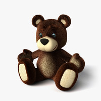 teddy bear 2 3d dxf