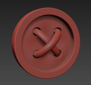 3d cloth button model