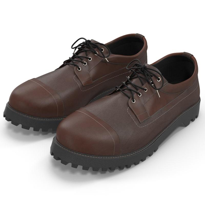 3d man shoes 3 modeled