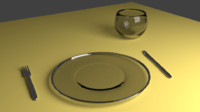 basic glass crockery 3d 3ds