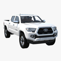 toyota tacoma 2016 simple 3d model