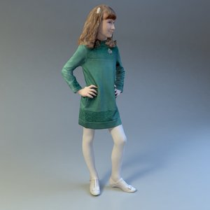 3d max girl scan