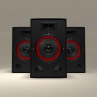 professional speaker 3d obj