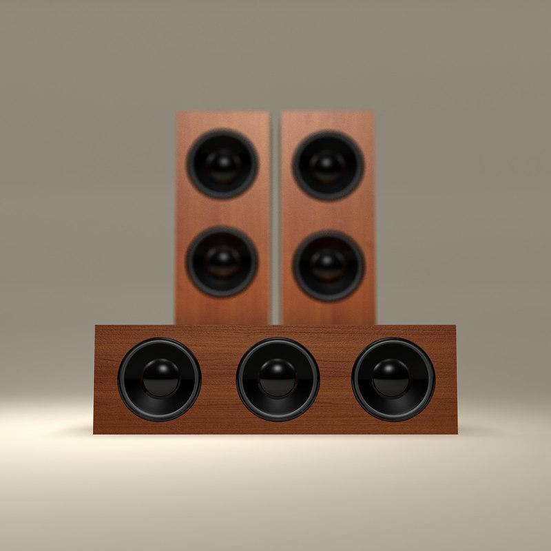 3d wooden tower speaker