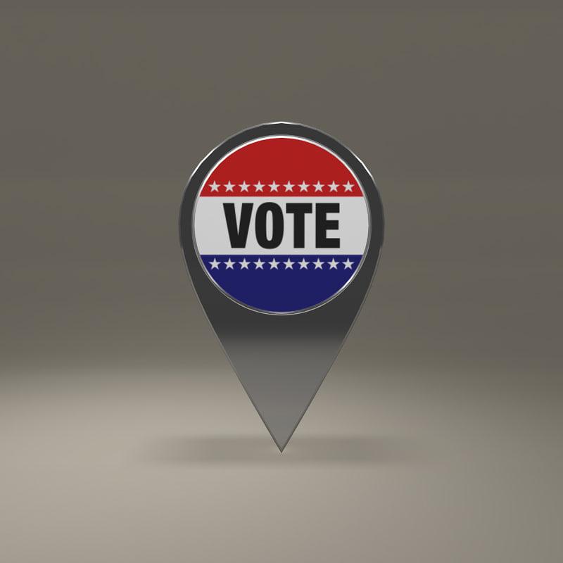 free vote magnet 3d model