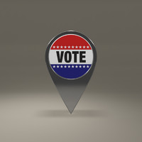 free vote magnet 3d model