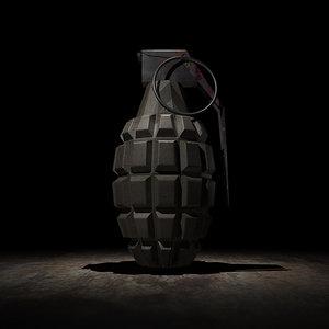 hand grenade 4k - 3d model