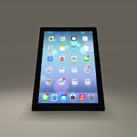 apple ipad tablet screen obj