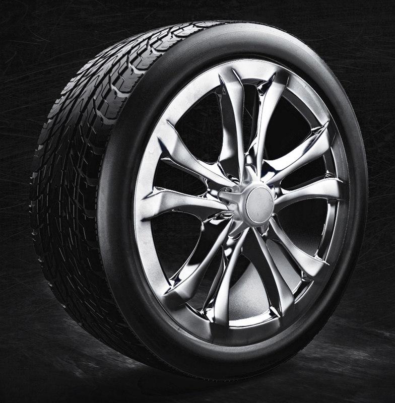 3d model car tire rim modelling