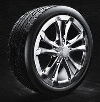 3d model car tire rim modelling