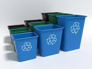 waste baskets allsource 3d obj